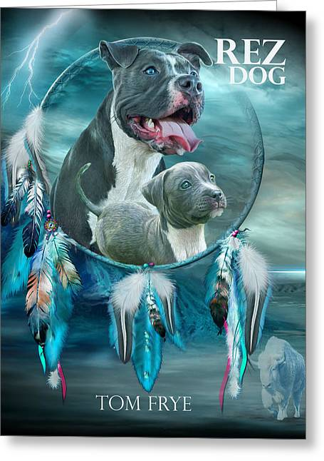 Rez Dog Cover Art Greeting Card
