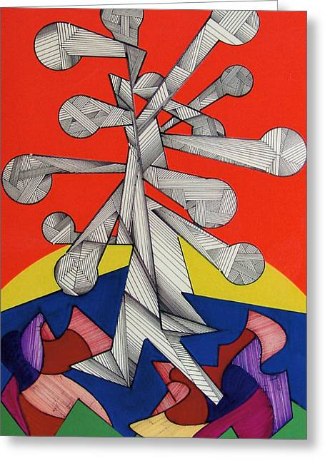 Autum Abstract Greeting Cards - Rfb0501 Greeting Card by Robert F Battles