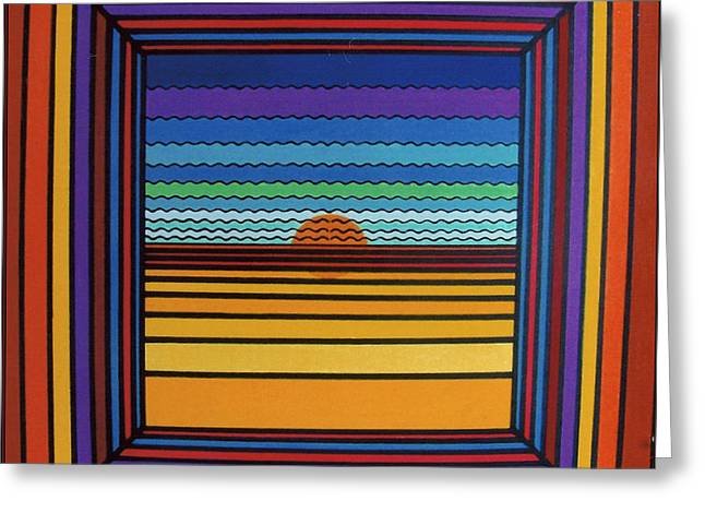 Sunset Framed Prints Drawings Greeting Cards - Rfb0641 Greeting Card by Robert F Battles