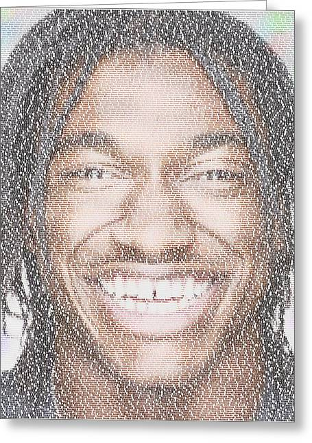 Rg3 Greatest Redskins Mosaic Greeting Card by Paul Van Scott