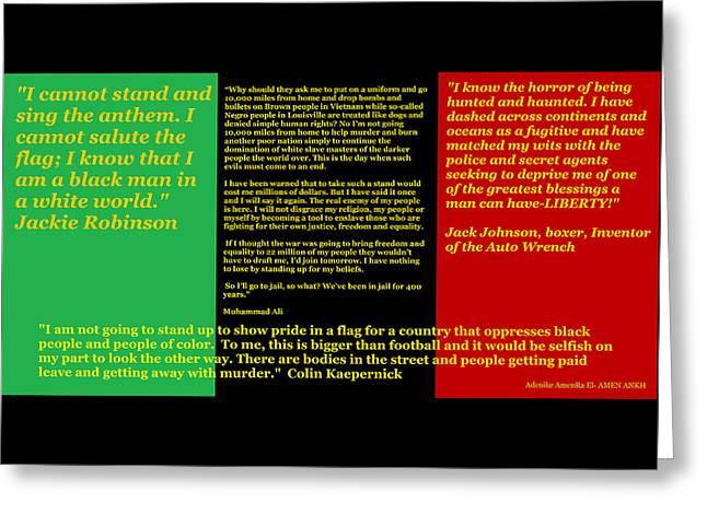 Colin Kaepernick Rbg Greeting Card