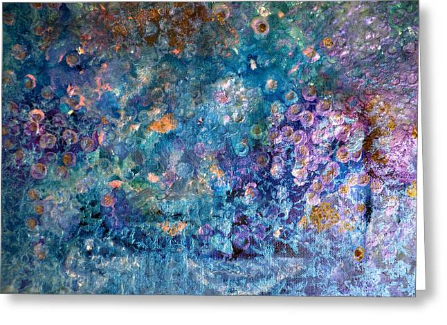 Rhapsody In Blue Greeting Card by Don  Wright