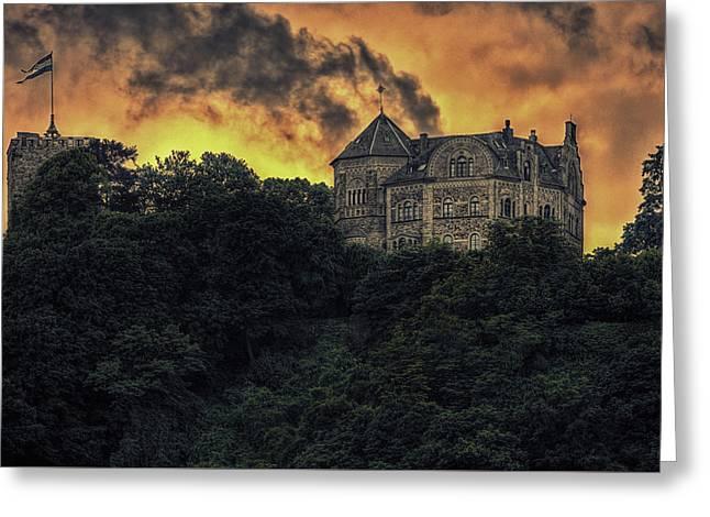 Rheineck Castle Greeting Card by Hans Zimmer