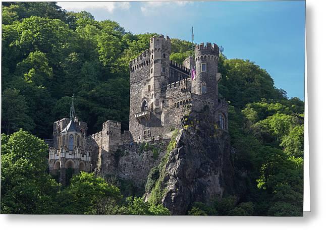 Rheinstein Castle Greeting Card by Teresa Mucha