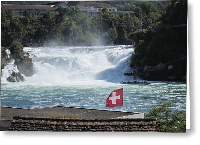 Rhine Falls In Switzerland Greeting Card