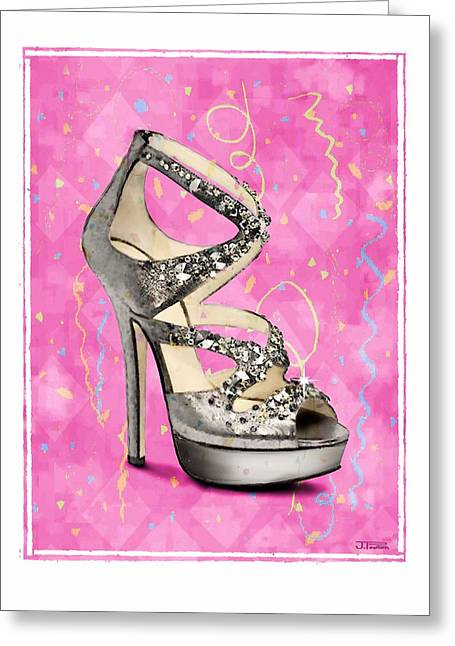 Rhinestone Party Shoe Greeting Card