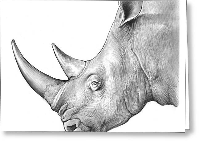 Rhino Greeting Card by Greg Joens