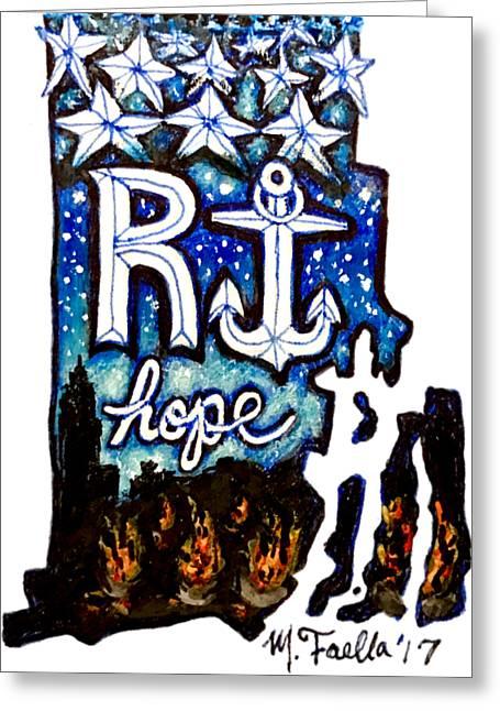 Rhode Island, Hope Greeting Card