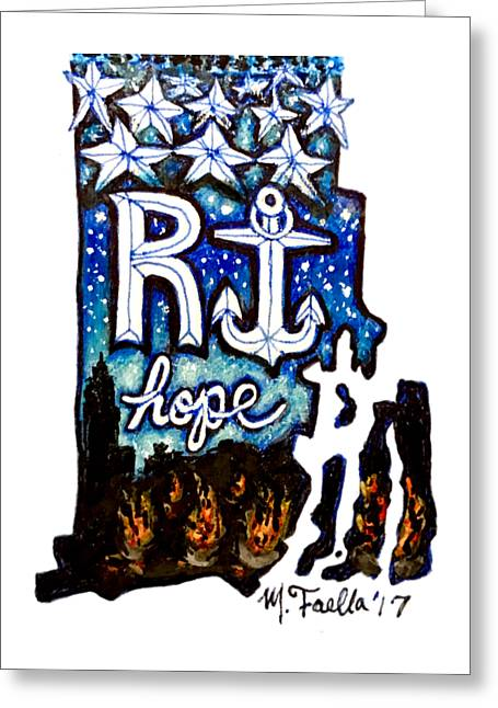 Rhode Island, Hope Greeting Card