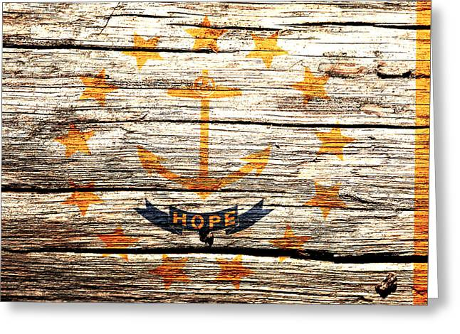Rhode Island State Flag 2w Greeting Card by Brian Reaves