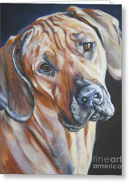 Rhodesian Ridgeback Greeting Card by Lee Ann Shepard