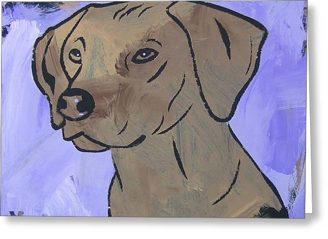 Greeting Card featuring the painting Rhodesian Ridgeback by Candace Shrope