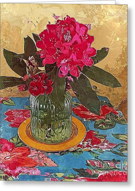 Rhododendron Greeting Card by Alexis Rotella