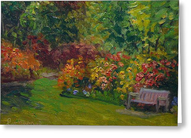 Terry Perham Greeting Cards - Rhododendron Dell  Greeting Card by Terry Perham