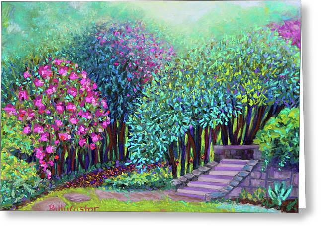 Rhododendrons In The Sunken Garden Greeting Card