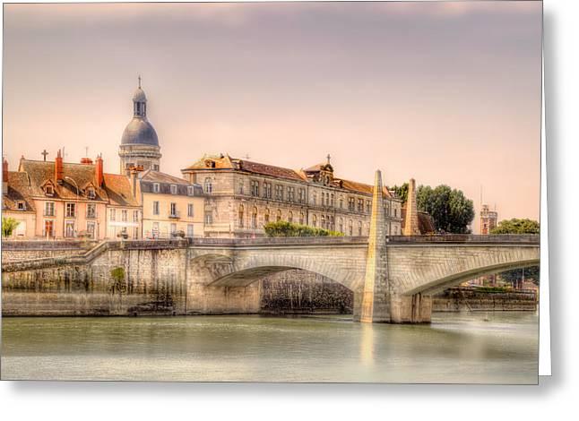 Bridge Over The Rhone River, France Greeting Card
