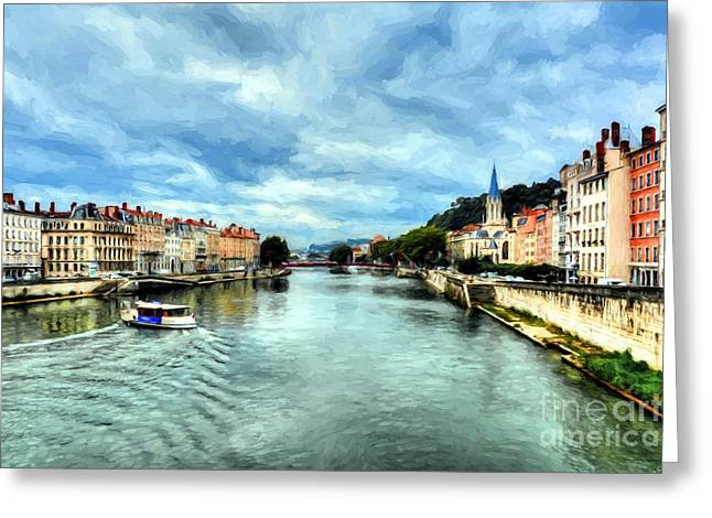 Rhone River In France Greeting Card