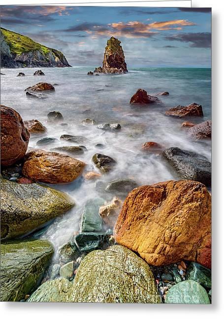 Rhoscolyn Rocky Coastline  Greeting Card