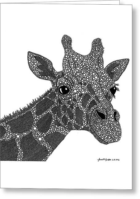 Rhymes With Giraffe Greeting Card by Laura McLendon