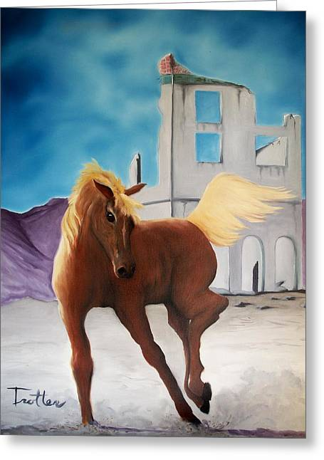 Rhyolite Pony Greeting Card by Patrick Trotter
