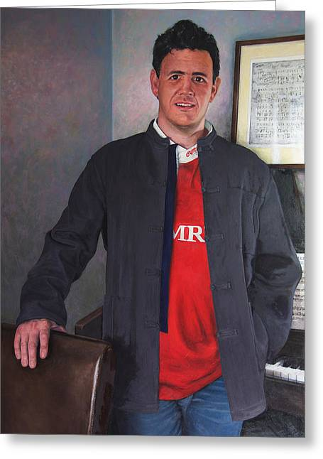 Rhys Meirion Greeting Card by Harry Robertson