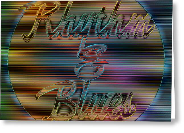 Rhythm And Blues Greeting Card by Becky Titus