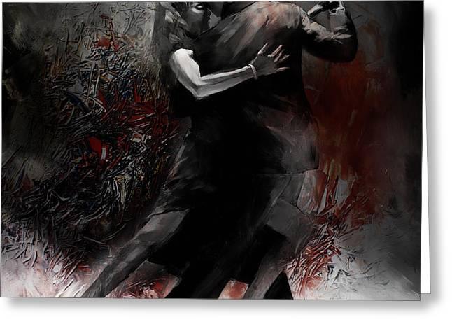 Rhythm Of Tango Greeting Card by Gull G