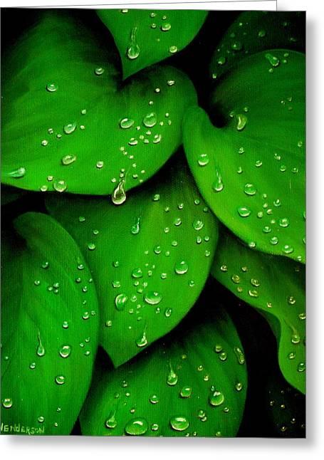 Rhythm Of The Rain Greeting Card
