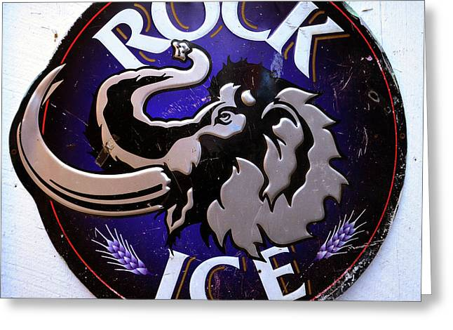 Rock Ice Beer Sign Greeting Card by David Lee Thompson
