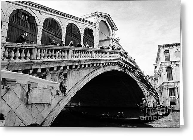 Rialto Bridge, Venezia Greeting Card by Luigi Morbidelli