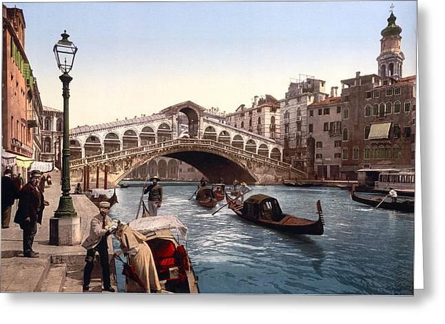 Rialto Bridge, Venice, Italy Greeting Card
