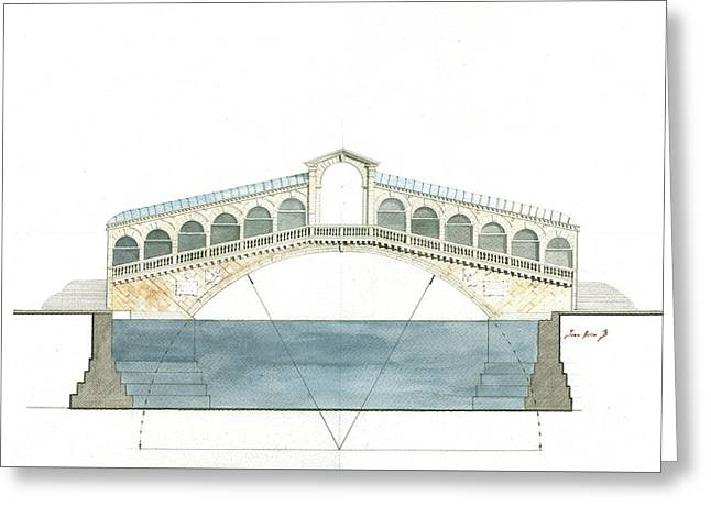 Rialto Bridge Venice Greeting Card