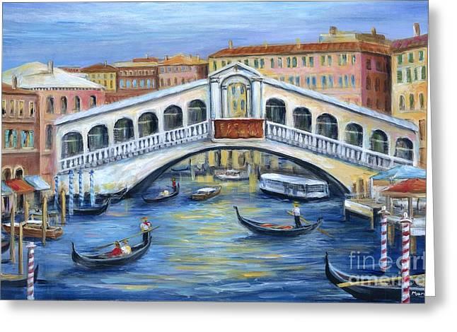 Rialto Bridge Venice Greeting Card