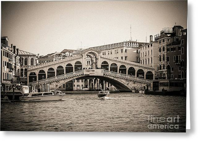 Rialto Venice . Italy Greeting Card
