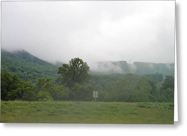 Riasing Mist Greeting Card by Christopher Rohleder