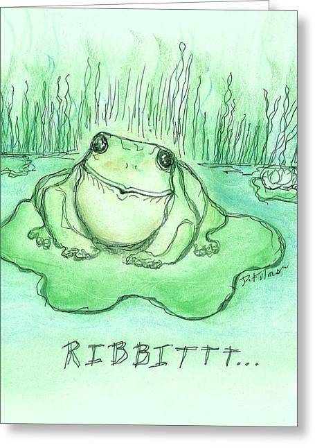 Ribbittt.... Greeting Card