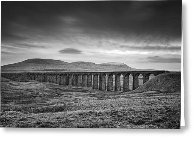 Scenic View Greeting Cards - Ribblehead Viaduct Uk Greeting Card by Ian Barber