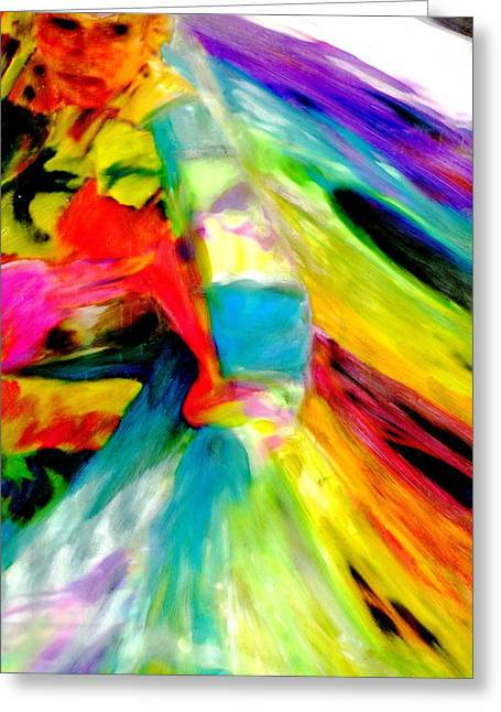 Ribbon Dancer Greeting Card