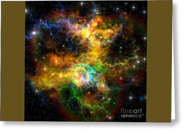 Ribbon Nebula Greeting Card