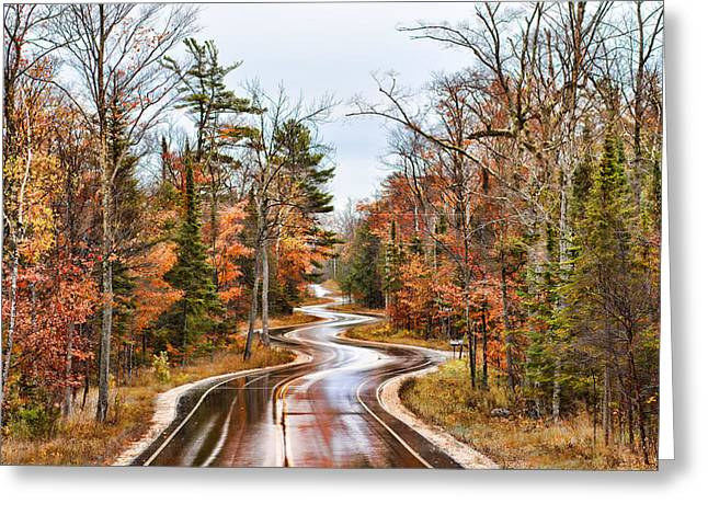 Ribbon Road Greeting Card by Bonnie Phillips