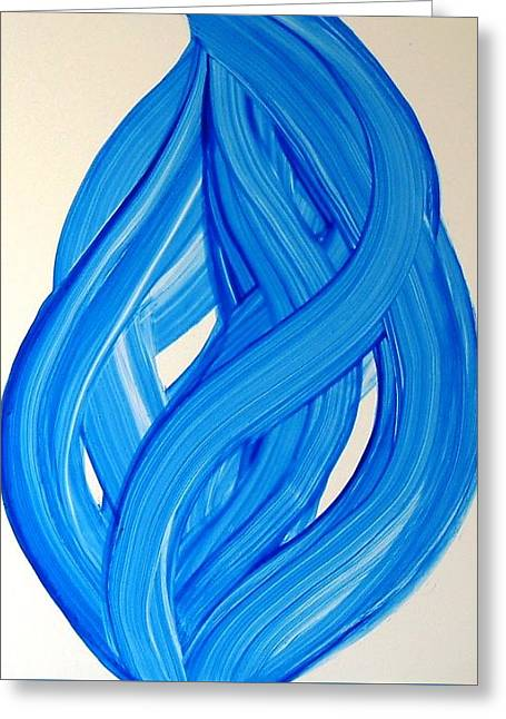 Ribbons Of Love-blue Greeting Card