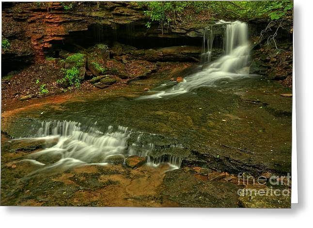 Ribbons Through The Laurel Highlands Greeting Card by Adam Jewell