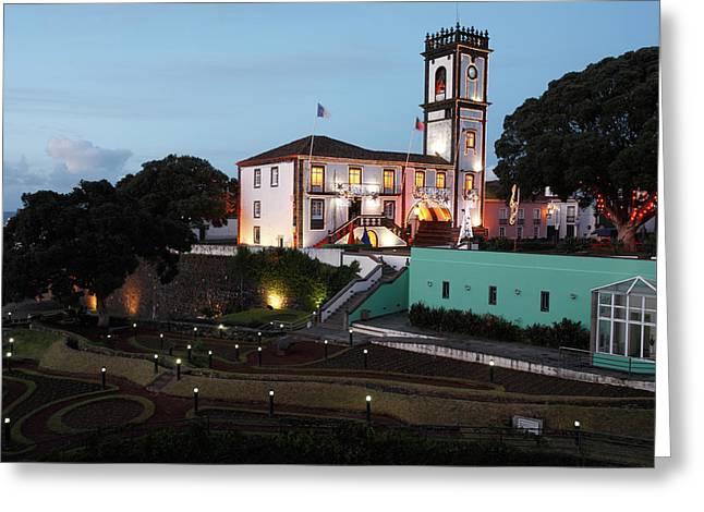Ribeira Grande Town Hall Greeting Card by Gaspar Avila