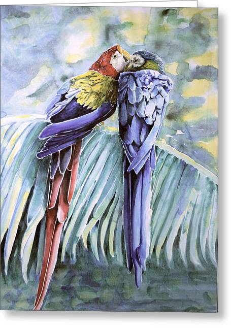 Sokolovich Paintings Greeting Cards - Ricco And Summera Greeting Card by Ann Sokolovich