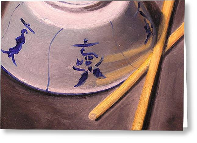 Rice Bowl II Greeting Card by Richard Meister