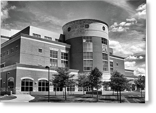 Rice Library B W Greeting Card
