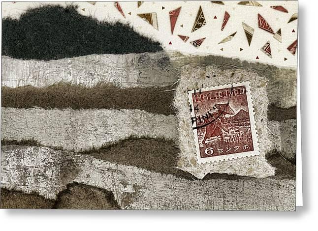 Rice Paddies Collage Greeting Card