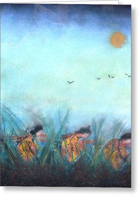 Rice Paddy Greeting Card by Thomas Armstrong