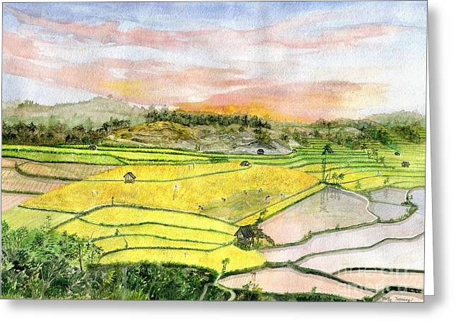 Ricefield Terrace Greeting Card