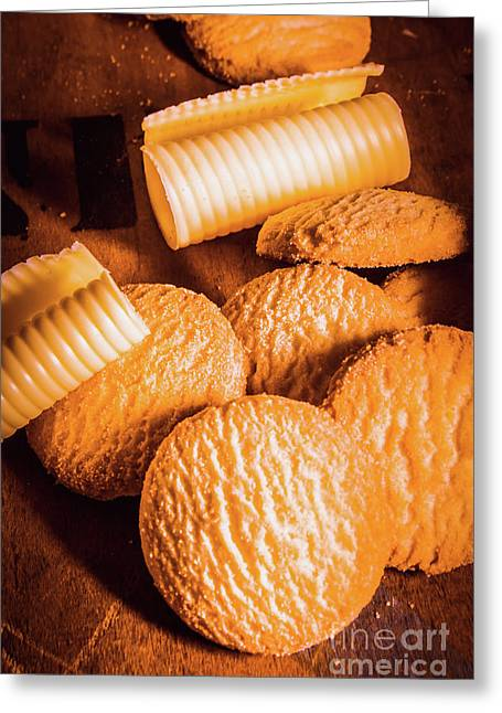 Rich Buttery Shortbread Biscuits Greeting Card by Jorgo Photography - Wall Art Gallery